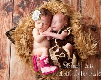 Baby Boots - Baby Boy Boots - Baby Cowboy Boots - Cowgirl Boots - Cowboy Boots - Baby Cowgirl Boots - Crochet Cowboy Boots - Twin Baby Boots