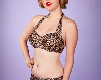 Cat's Meow Halter Underwire Top & Hipster Bottom