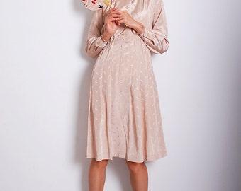 Vintage Miss Kim Manchurian Ivory Dress