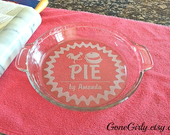Chicken Pot Pie - Fully Customizable Engraved Basic or Deep Pie Dish