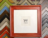 """12x12"""" Square Picture Frame in Double Cove Build Up Style and Color OF YOUR CHOICE"""