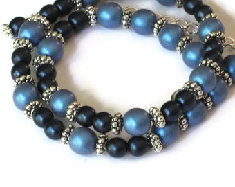 Blue Pearl Necklace, Wedding Jewelry, Gifts for Women Mom Wife Sister Daughter Grandma Teacher Under 25, Stocking Stuffers, One of a Kind