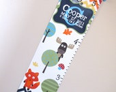 Woodland Critters & Rainbow Chevron Growth Chart