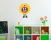 Monster Wall Decal - Silly Monster Wall Decor - Children Wall Decals - 1