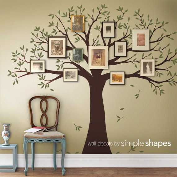Etsy Family Wall Decor : Family tree decal wall two by simpleshapes