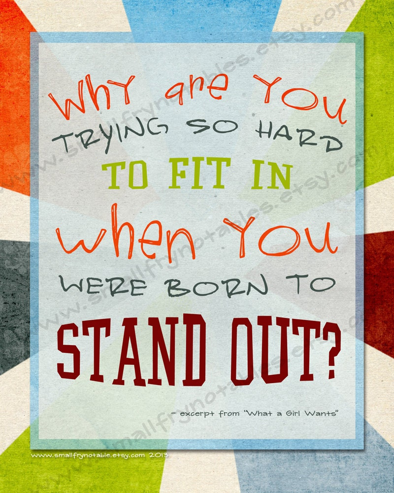 Stand Out Quotes: Quote Print Printable Art Stand Out Movie Quote DIY