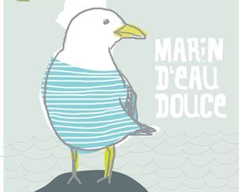 Carococo ArtPrint by Carol-Anne Pedneault / Marin d'eau douce /  12x12