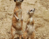 Day 13 and 14: Needle Felted Meerkat Mom and Baby
