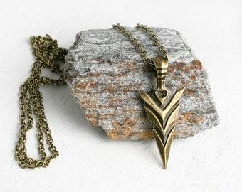 Arrow Necklace, Arrow Head Necklace