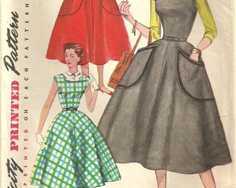 Simplicity 4766 / Vintage 50s Sewing Pattern / Dress / Size 13