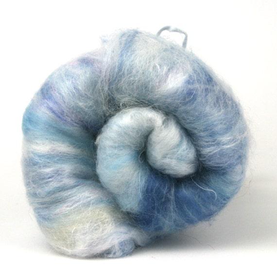 Blue Moon - Spinning and Felting Batt - Faux Cashmere - Firestar - Merino fibre - 4oz - UK Fiber