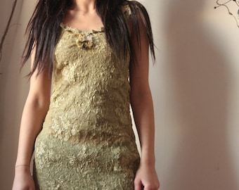 Awakening Nature, silk stretch dress from the Nature Spirit Collection faerie fairy dress elven woman's clothing