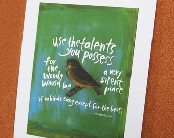 Use the talents you possess - Print