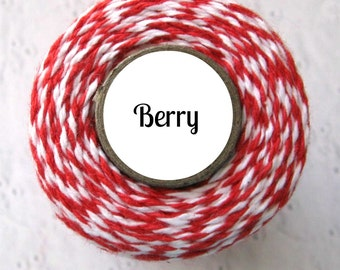 Red & White Bakers Twine by Trendy Twine - Berry