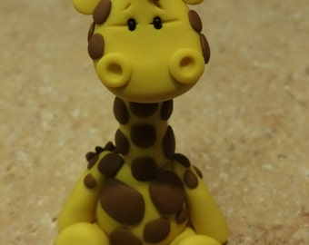 Giraffe Clay Figurine