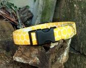 Honey Comb - Golden Yellow Dog Collar