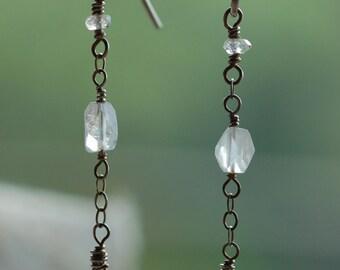Iridescent Moonstone Earrings