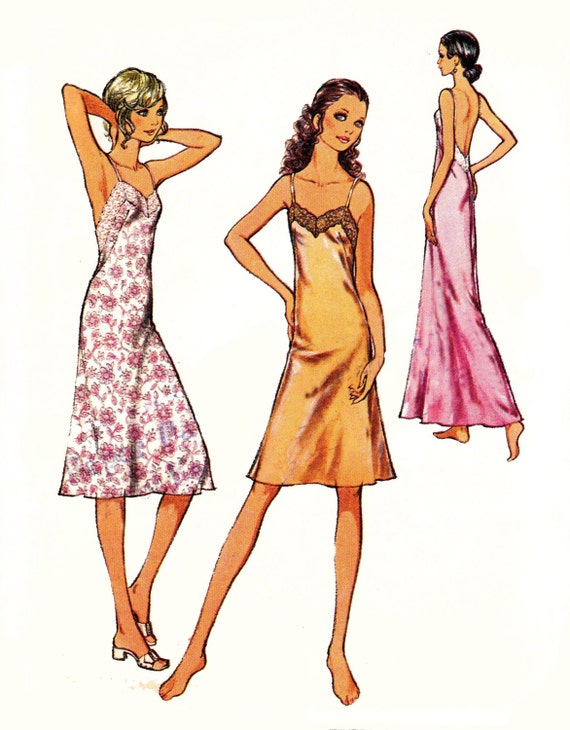 70s Vintage Sewing Pattern Style 2030 Misses Bias Slip Size 8  Bust 31 1/2 inches UNCUT FF