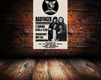 Badfinger 1971 Cleveland Concert Poster