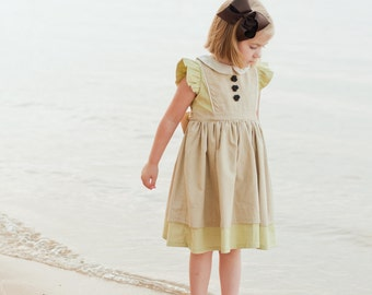 PDF Georgia Vintage Dress Pattern, Size 6 Month - 10 Years by The Cottage Mama