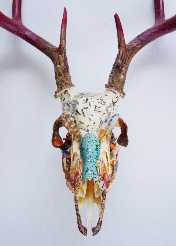 Reserved Whitetail Deer Skull Let Them Eat Cake