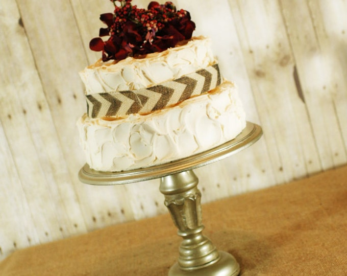 One Rustic Pedestal Cake Stand - any color available