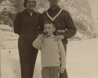 Vintage Photograph - Winter Family Photo