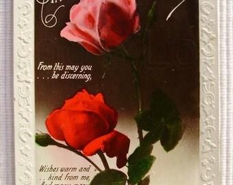 Vintage Real Photo Postcard (RPPC) - Birthday Wishes