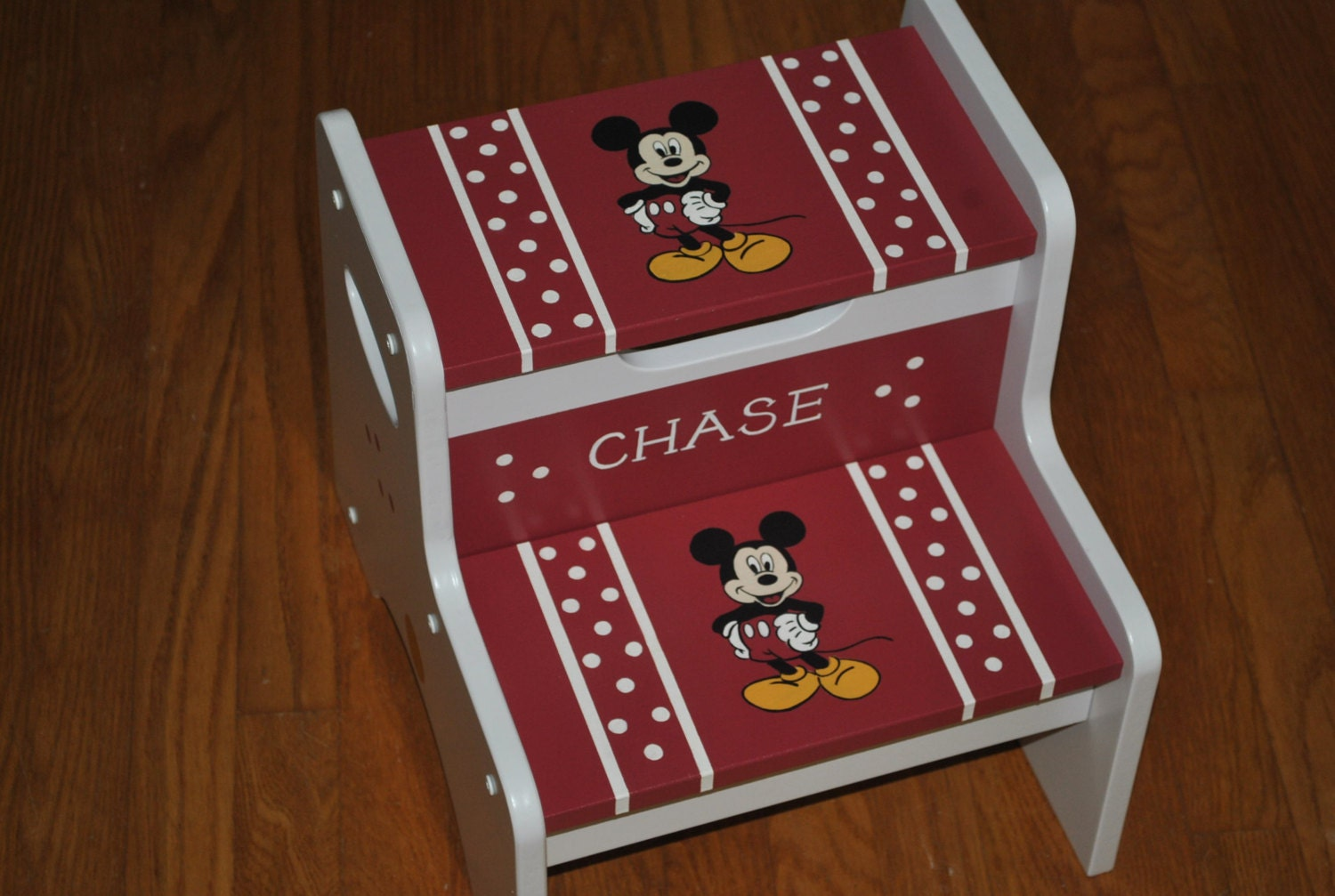 Kids personalized 2 step stool mickey mouse by onmyown14 on etsy - Mickey mouse stool ...