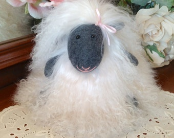 Made to Order: A Fluffy White Tibetan Real Fur Lamb