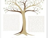 Personalized Ketubah: Tree of Life IV