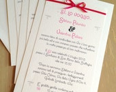 Fuchsia Wedding Invitation - Modern Wedding Announcement in Italian