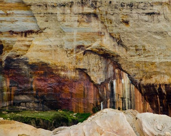 Pictured Rocks 02 ||| Nature Photograph | Rustic Modern Wall Art | Abstract Nature | Modern Minimalist Print | Landscape Photography