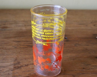 Vintage Drinking Glass - Poems About Manners and Being Polite