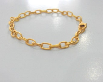 Gold Plated Bracelet Chain Findings G472