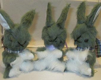 Grey Baby Bunnies, Gray Baby Rabbits, Grey Rabbit Toys, Gray Bunny Toys, Grey Toy Rabbits, Gray Toy Bunnies, Grey Plush Tots Toy, Baby Gift.
