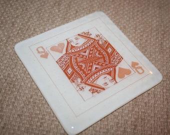 Playing Card Printed Coaster