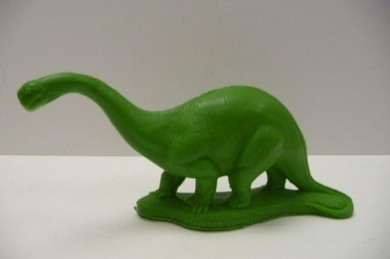 Vintage Dinosaur Sinclair Dinoland Gasoline Green Brontosaurus