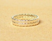 Sterling silver stacking rings eco friendly thick twisted band ring set of 2 stackable rings sterling ring twist ring Etsy jewelry