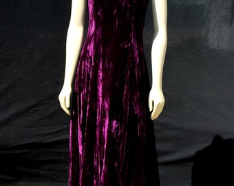 Vintage 80's BETSEY JOHNSON crushed purple velvet grunge dress Small by thekaliman