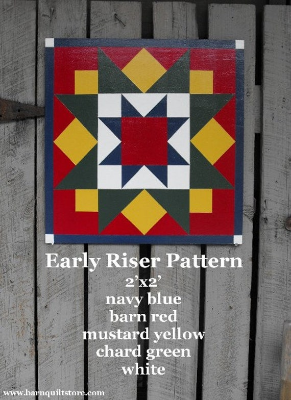 Items Similar To Barn Quilt Early Riser Pattern On Etsy