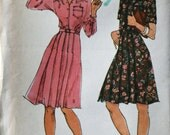 vinage 70's Butterick 3802 Shirt dress, young designer Daniel Hechter, UNCUT, size 10 bust 32.5