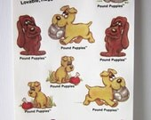 Vintage Pound Puppies Stickers - 5 Sheets