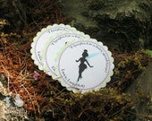 Fairy Party Custom Favor Stickers - Garden Fairy Collection from Tea Party Designs