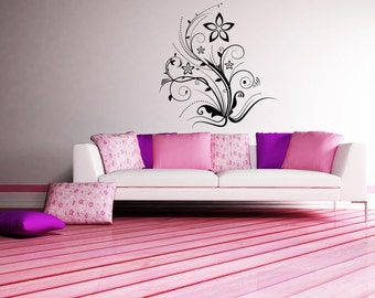 Vinyl Wall Decal Sticker Floral Plant Design 1083s