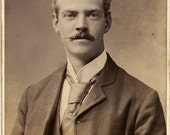 Antique Carte de Visite Photograph - Victorian Gent Circa 1880s