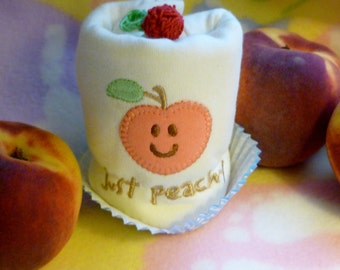 Just Peachy Baby Onesie..100% Organic Cotton...Baby Shower..Baby Gift..Peach Appliqued Baby Onesie..My Little Peach :)