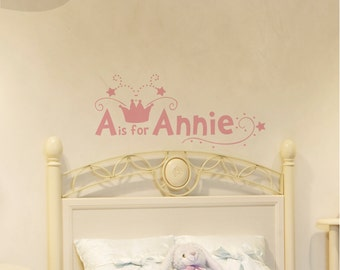 A is for Annie Monogram -- Vinyl Wall Decal