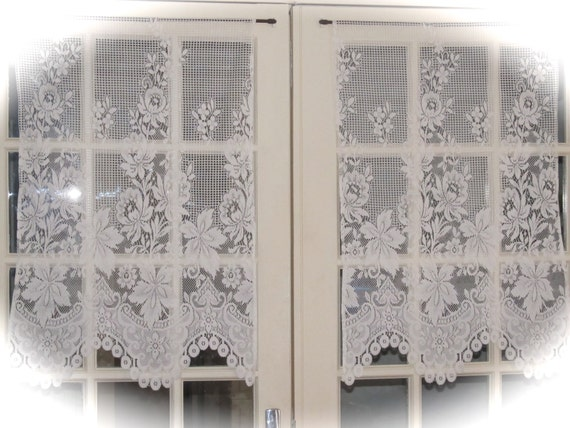 Ivory Cafe Curtains French Lace Kitchen Curtains Lace