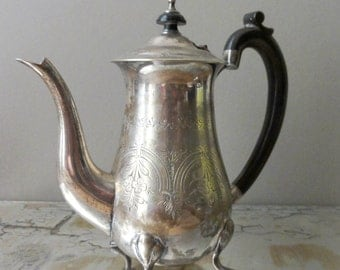 Vintage Coffee Pot English Silver Plate